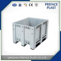 HDPE Heavy Duty Plastic pallet boxes bin for water and seafood