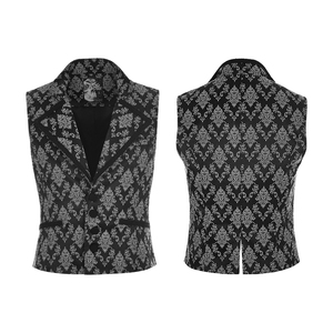 WY851 Punk Rave unusual men's gothic romantic black ornament latest fancy waistcoats