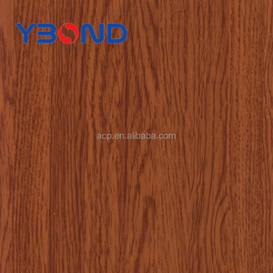 fireproof wooden finished aluminum composite wall decorative panels