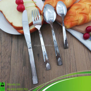 Cutlery China Supplier 18/0 4Pcs Stainless Steel Flatware Set