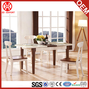 New model dubai dining room furniture wooden rectangle for New model dining table