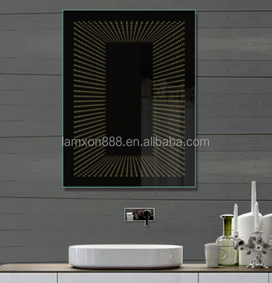 Modern Hotel Decorative Led Infinity Mirror Bathroom With On Switch Product