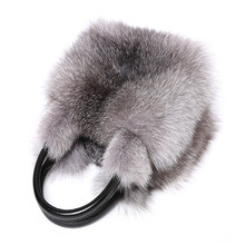 2017 new design custom luxury fox fur lady fashion handbag