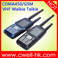 Olive W18 IP67 Dual Mode Mobile Phone with VHF Walkie Talkie Function Long Standby Time Battery CDMA 450 MHz Mobile Phone