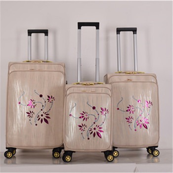 d34d13203 3 pieces set PU leather trolley bag luggage Fashion cheap luggage sets  travel bag suitcase