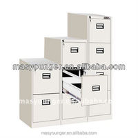 Stainless steel 2/3/4 drawer 100% open white shine file/filing cabinet furniture,office equipment product