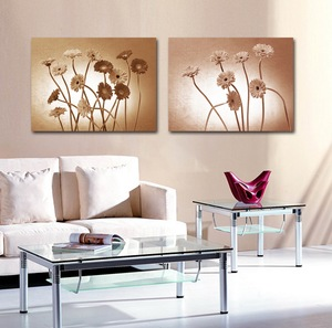 High Quality Low Price Beautiful Modern Abstract Daisy Flower Canvas Painting for Living Room