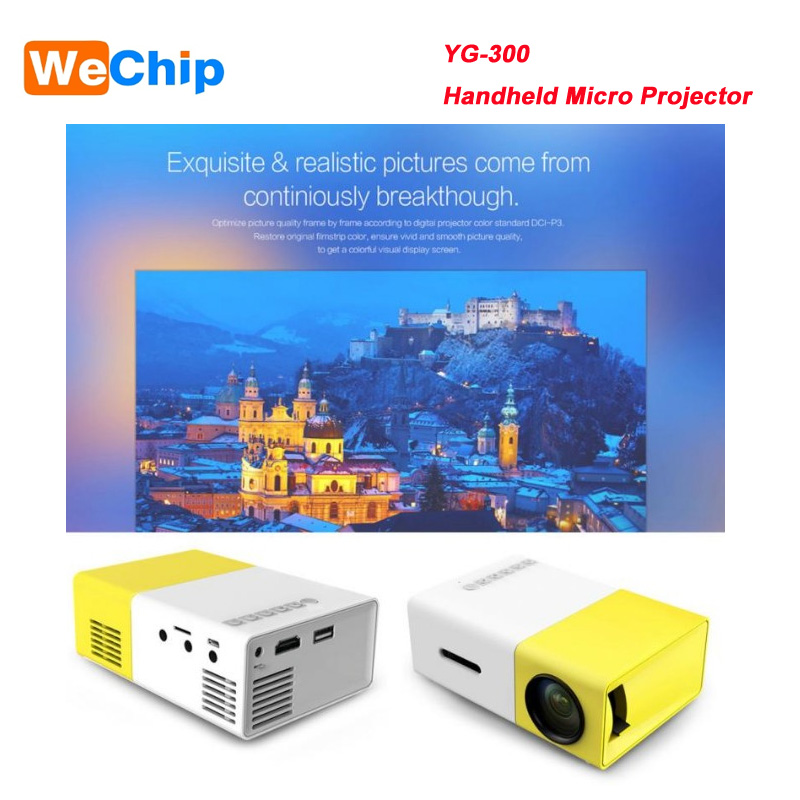Wechip tragbare mini projektor hd 1080 p YG300 professional video projektor einfache form smart projektor