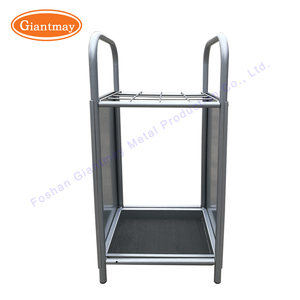 Indoor commercial retail metal umbrella display rack stand with drip tray unit