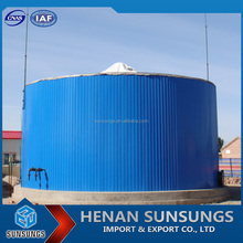 Enameled tank used in biogas plant lifespan up to 30 years mini biogas digester