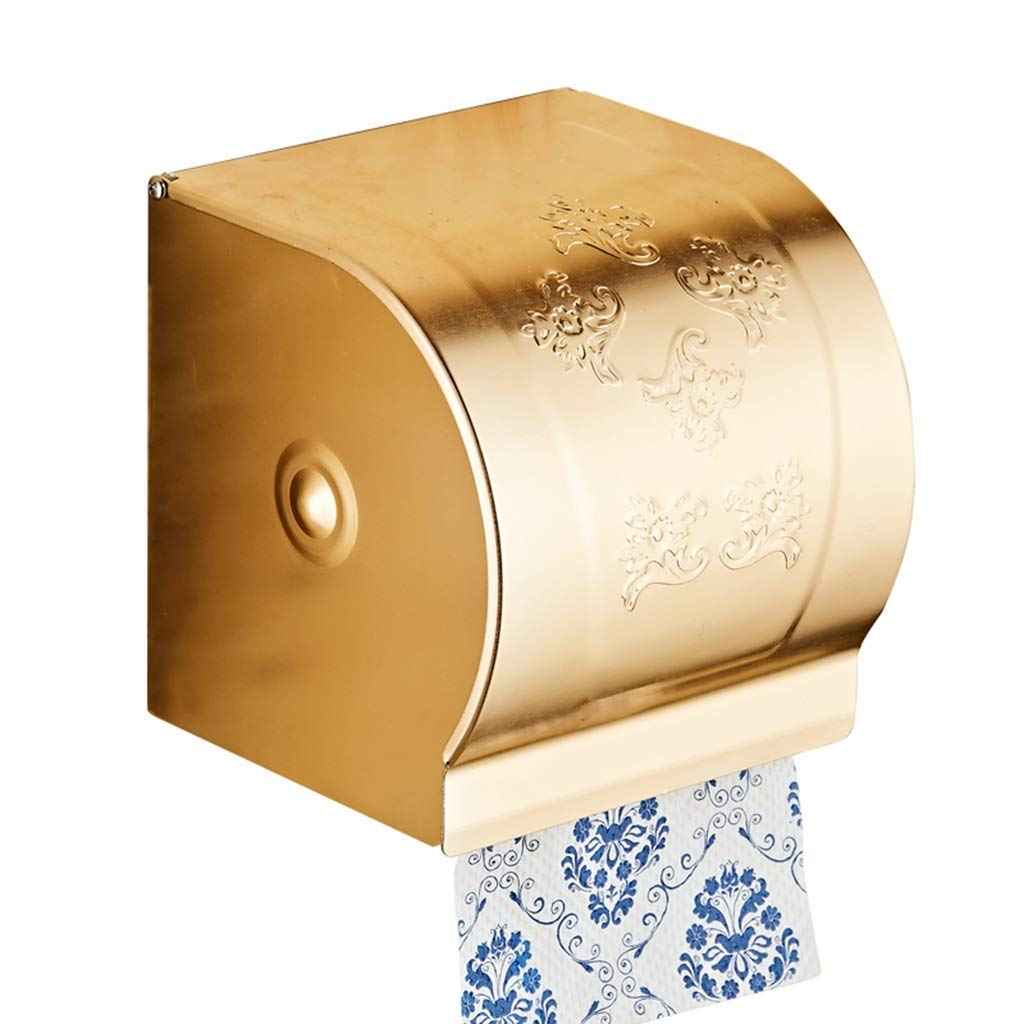 LE fu yan Toilet Paper Holder Punch-Free Bathroom Tissue Box Waterproof Toilet Paper Tray Toilet Paper Toilet Paper Holder Toilet Paper Holder Paper Holder Wall Mount (Color : A)