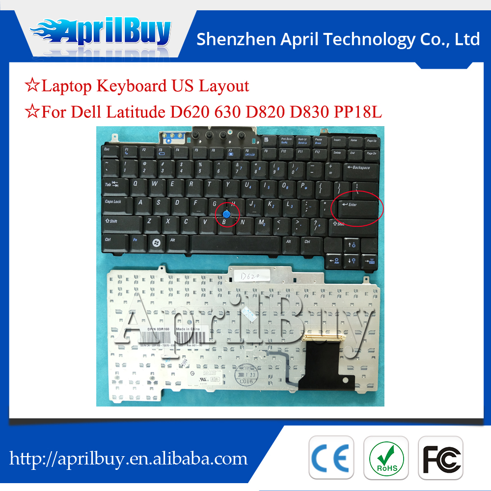Us Black Laptop Keyboard For Dell Latitude D620 D630 D820 D830 Pp18l - Buy  Us Black Laptop Keyboard For Dell Latitude D620 D630 D820 D830 Pp18l,Us