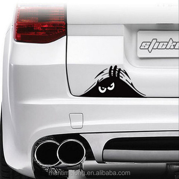 Funny peeking monster sticker for car wrap car body sticker design body car sticker