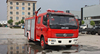 xarbon steel Dongfeng 5000l fire fighting truck 6 wheeks 4x2 water fire fighting truck with crane