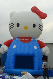 Kids Small Inflatable Bouncers / Hello Kitty theme Inflatable Bouncy Castle