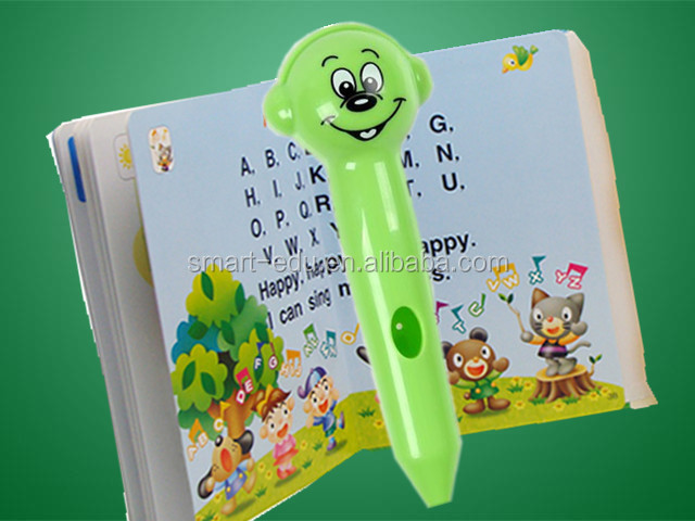 Magic children talking pen with OID codes printing books Russian English Spanish