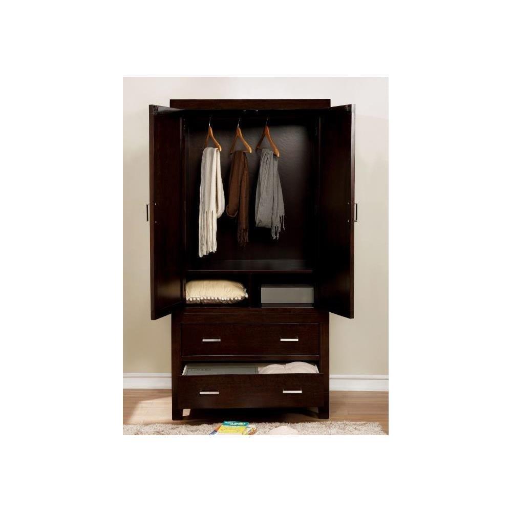 Fa Furnishing Belfort Wardrobe Tv Armoire 36 Inch Wide In Espresso