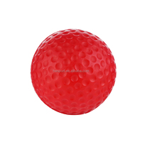 Red Golf PU foam Golf foam stress ball for promotion,anti stress sports balls