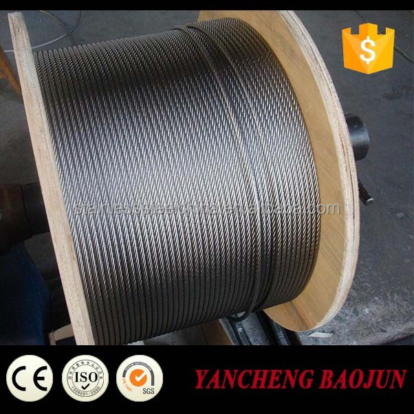 China Supplier ground wire galvanized steel wire cable 6x19+FC