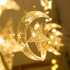 for Christmas Decoration Led Light for Fairy Ramadan Light Window Led Curtain Star Moon String Light for Room Festival Christmas Decoration