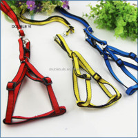 Custom top quality durable nylon designer unique Handmade pet harness , hands free dog leash