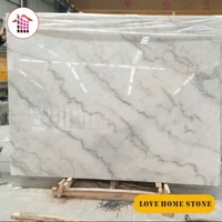 Natural Chinese Guangxi White Marble Stone with Black Grains