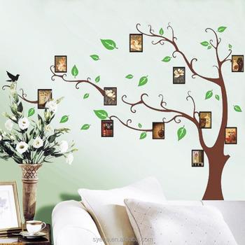 syene tree art wall paper fashion removable photo frame family tree