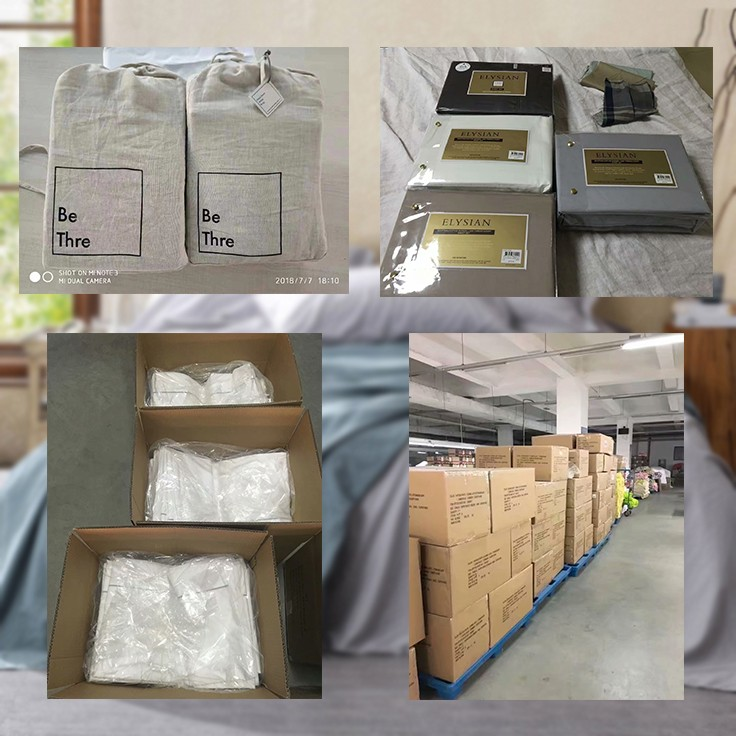 line bedding set packing