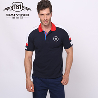 bulk wholesale clothing 95% cotton 5% spandex custom embroidery fashion polo t shirt for men