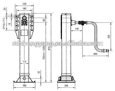 Inside Landing Gear And Outside Landing Gear For Semi Trailer Truck Trailer Parts 60236734249