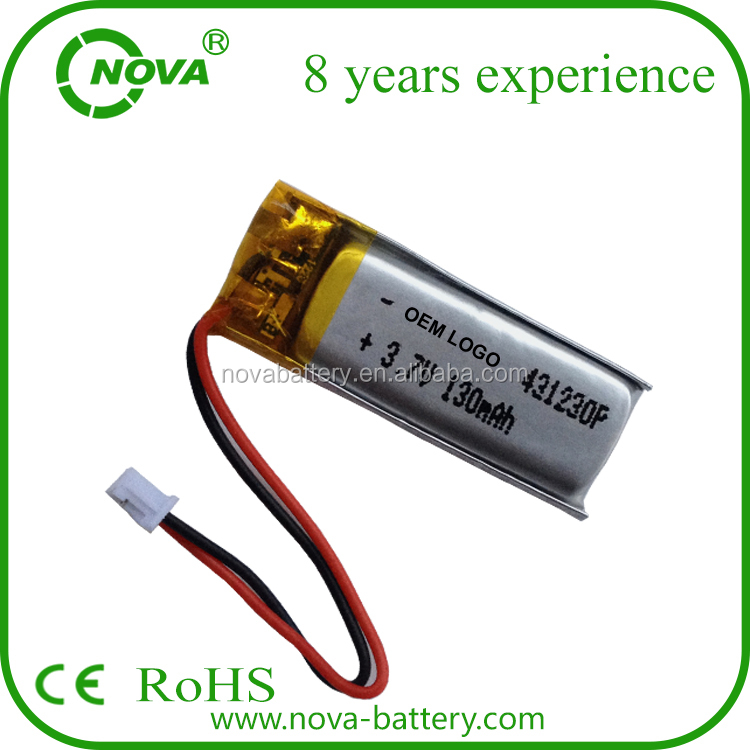 hot sales china small lipo battery 3.7v 100mah, 90mAh 110mah 120mah 130mah lithium polymer battery 3.7v 401230