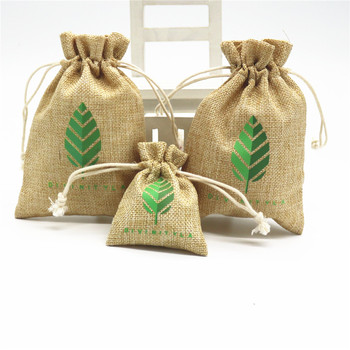 Natural Small Hemp Pouches Drawstring Jute Gunny Bag Whole Bags For Jewelry