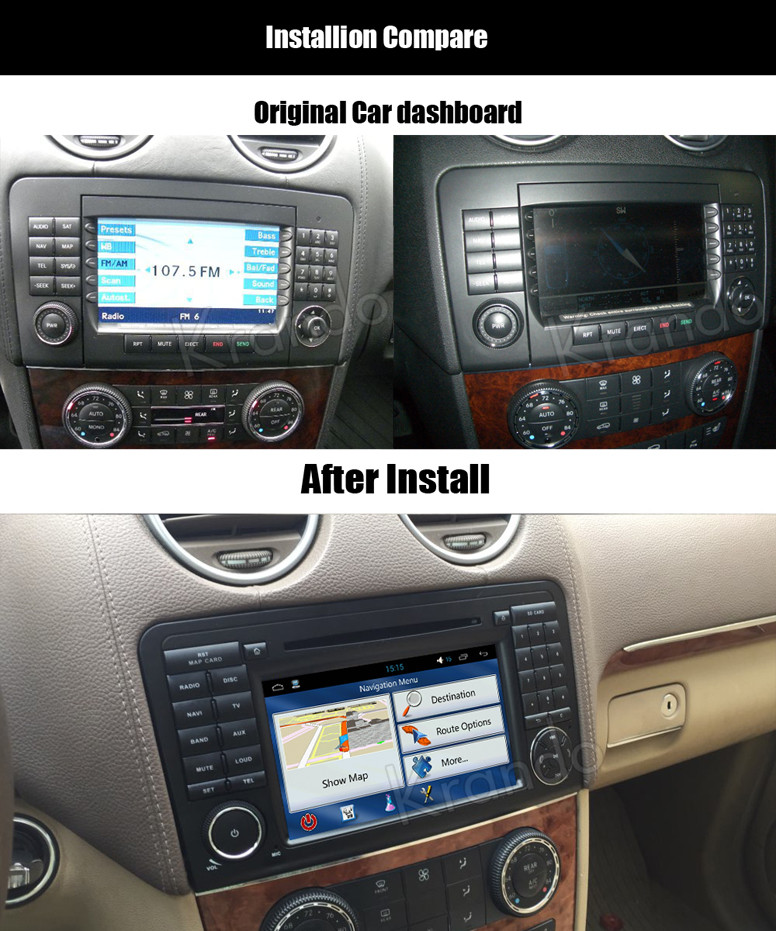 for mercedes for benz ml w164 car dvd gps