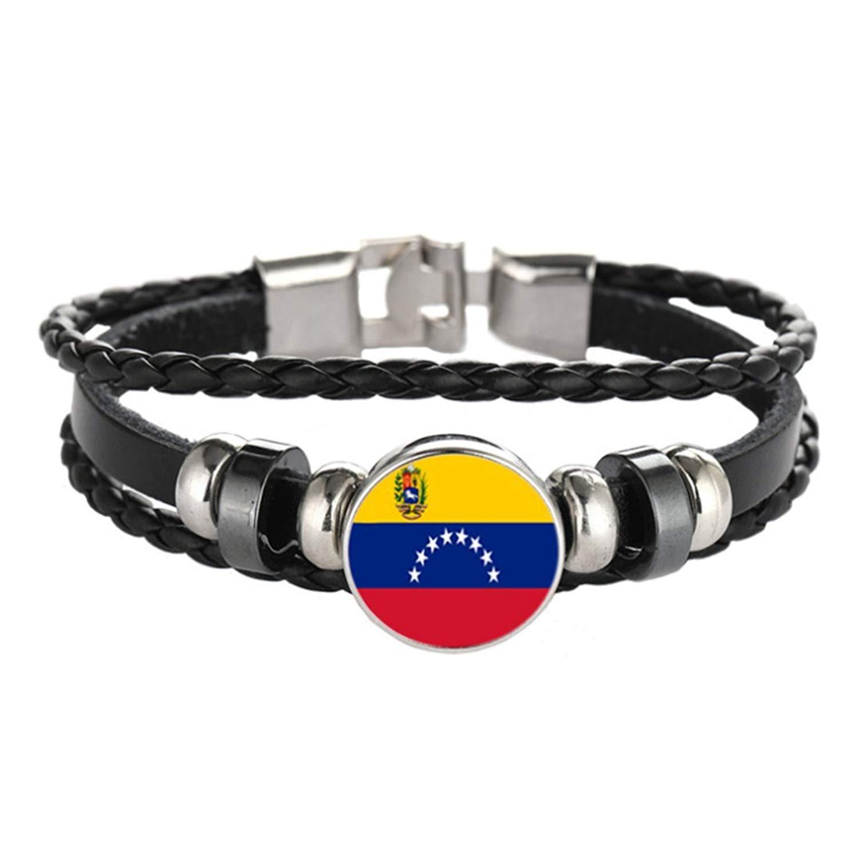 Patriotic bracelet ,Saint Lucia flag bracelet ,Ukraine flag bracelet ,Braided bracelet