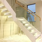 marble steel staircase designs with Anti-slip step
