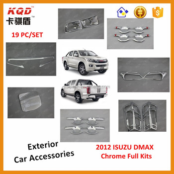 Best selling car accessories 3d chrome kits car headlamp rear light cover  for d-max 2012, View chrome kits for d-max 2012, KQD Product Details from