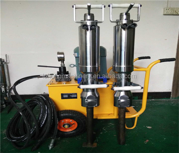 Safe and quiet hydraulic rock splitting machine
