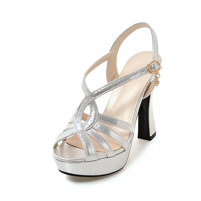 79da30369a9f Get Quotations · Meotina Women Sandals Platform High Heels Gladiator Shoes  Crystal Wedding Shoes (US6 CN36