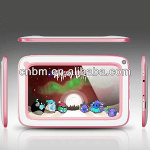 pink color 7 inch kid tablet pc for childwith Allwinner A20 dual-core 512M+4GB Android 4.2 battery3.7V 2200mAh Li-ion