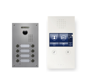 Apartment 8 Units Intercom Wired Video Door Phone Audio Visual Entry System 1V8