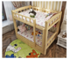 healthy strong pine wood bed children's specification of bunk bed