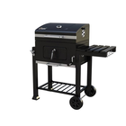 Square Side Table Heavy Duty Outdoor BBQ Gas Charcoal Barbecue Grill
