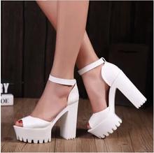 2015 New style women's summer shoes gauze open toe sandals platform shoes female thick heel platform high heels female sandals