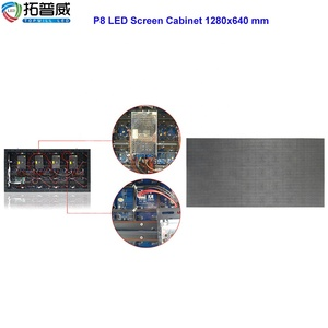 SMD3535 P8 Full Color LED Board 256x128 mm Size Outdoor Pole Installation Advertising Billboard
