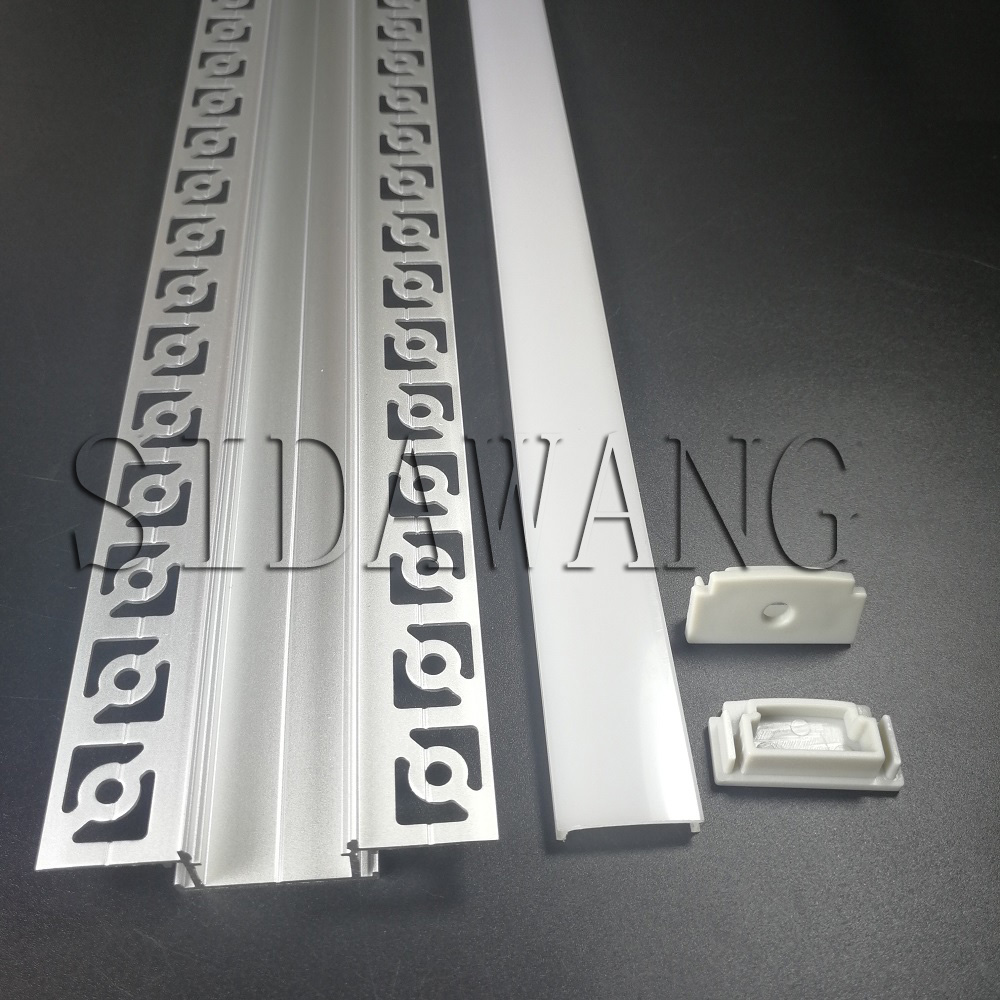 Drywall LED Aluminum Profile, Aluminum LED Profile For Gypsum Plaster Ceiling, Trimless LED Profile for double row strip