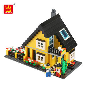 Wange Toys Chenghai DIY Educational Building Blocks Villa Series Construct Toy Brick 2018