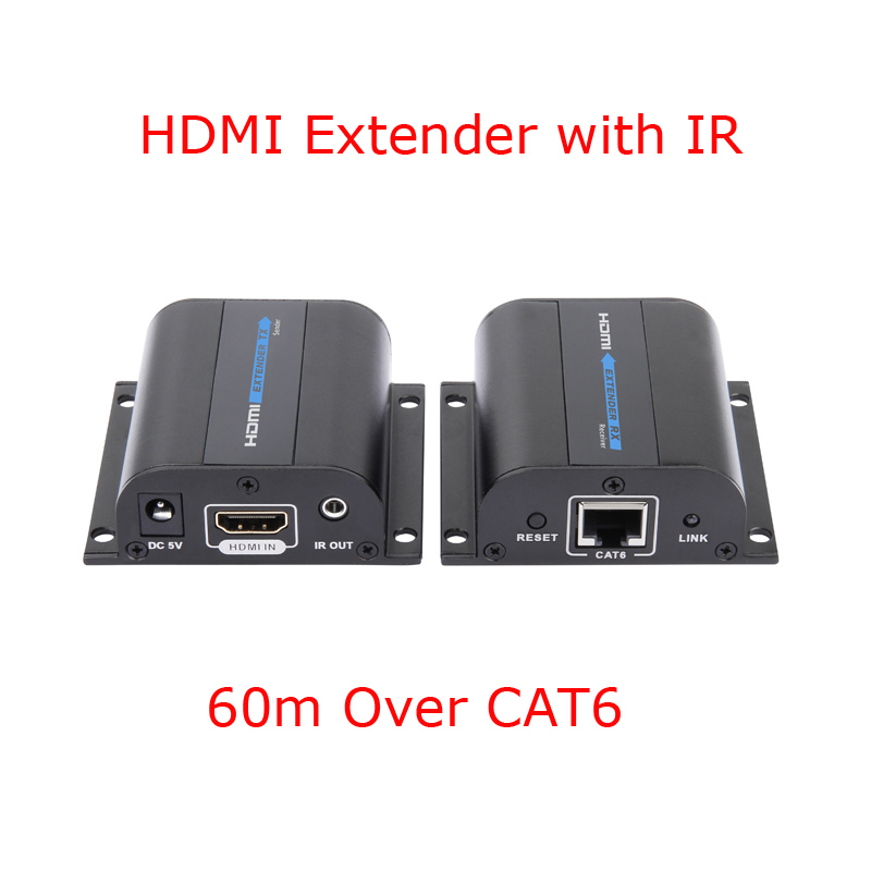 hd 1080p hdmi extender tx rx 60m with ir over cat6 5e rj45. Black Bedroom Furniture Sets. Home Design Ideas