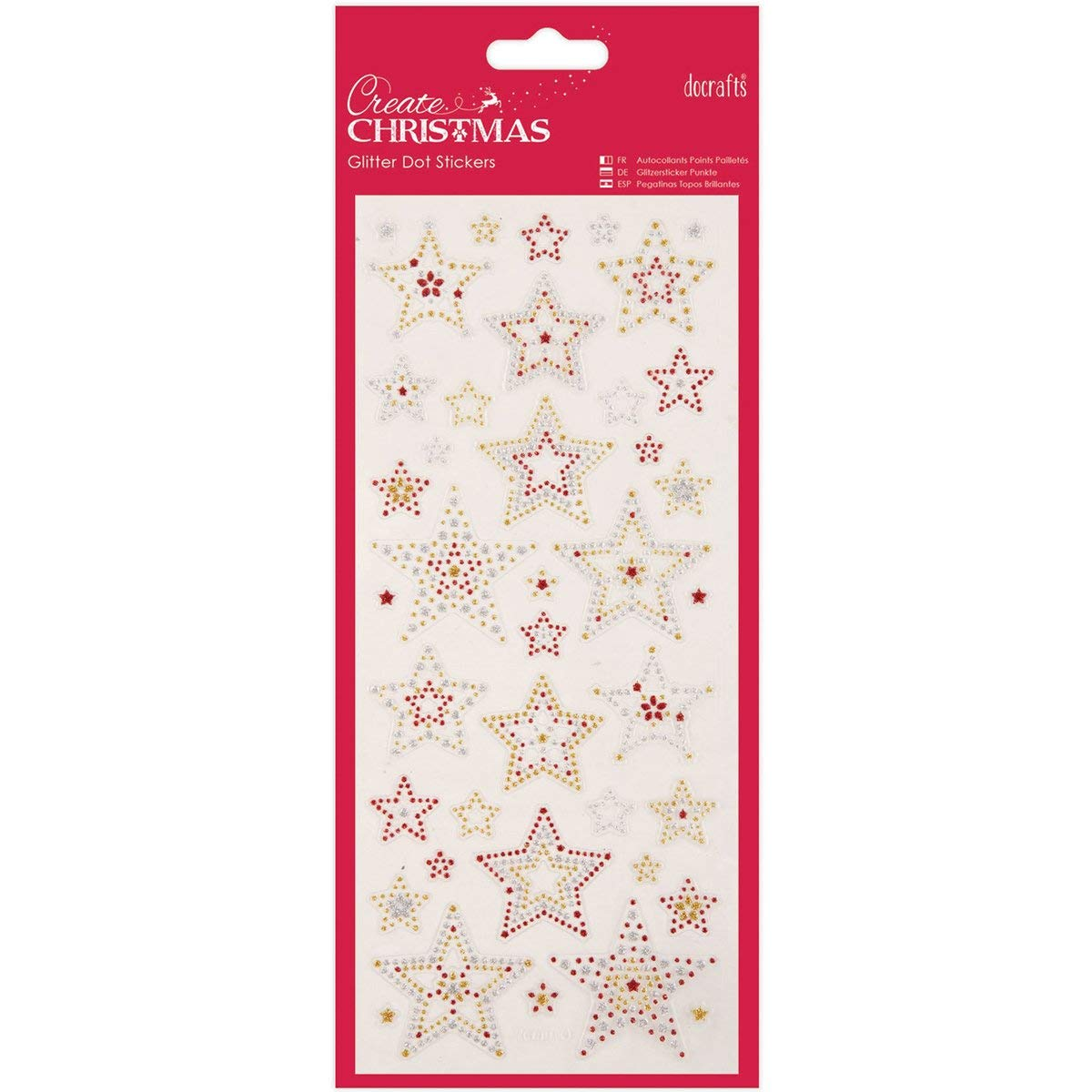 Get quotations · stars papermania create christmas glitter dot stickers