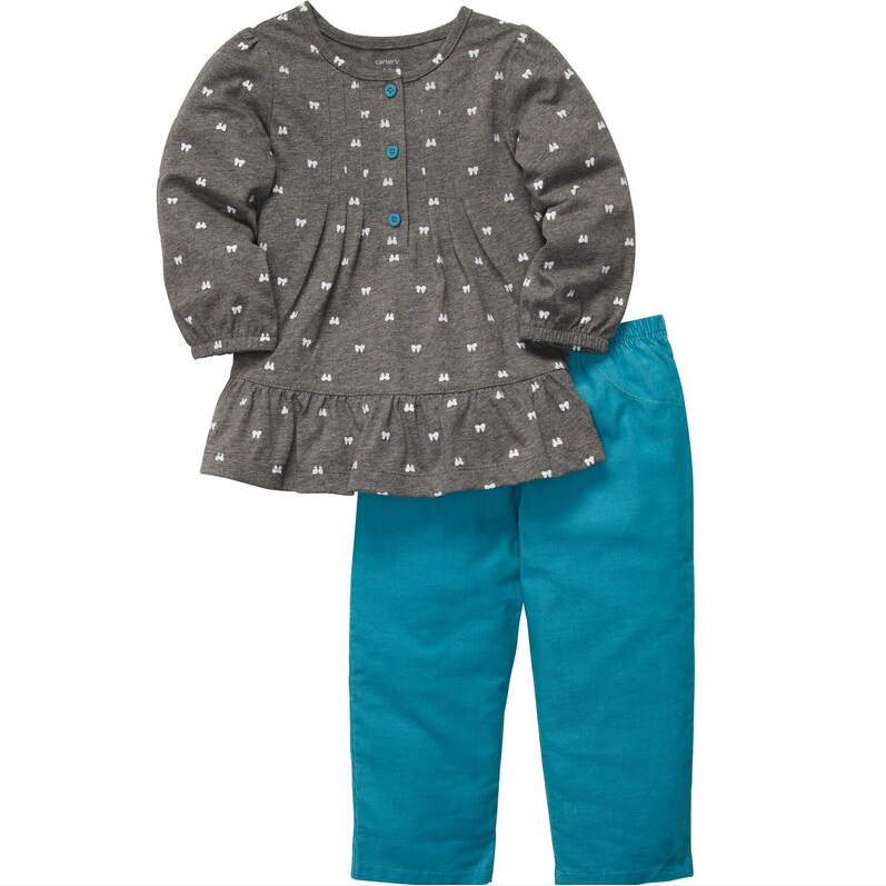 449792a93 Get Quotations · Retail 2015 Carters Set Baby 100% Cotton Long Sleeves  Blouse With Corduroy Pants 2-