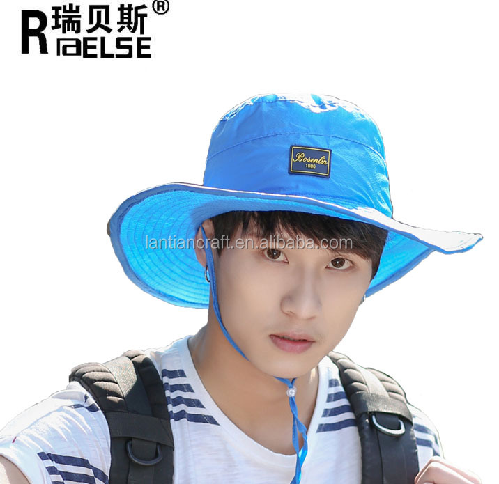 summer direct factory sun protection neck face flap boonie hat custom made polyester fishing hiking bucket hat